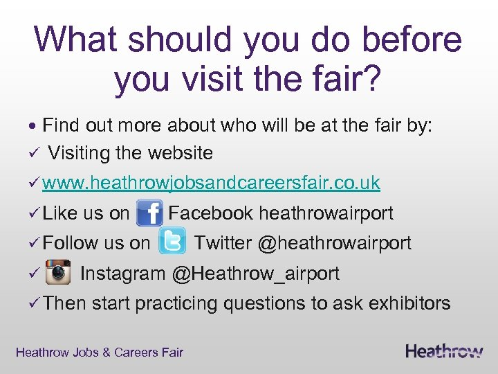 What should you do before you visit the fair? Find out more about who