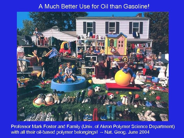 A Much Better Use for Oil than Gasoline! Professor Mark Foster and Family (Univ.