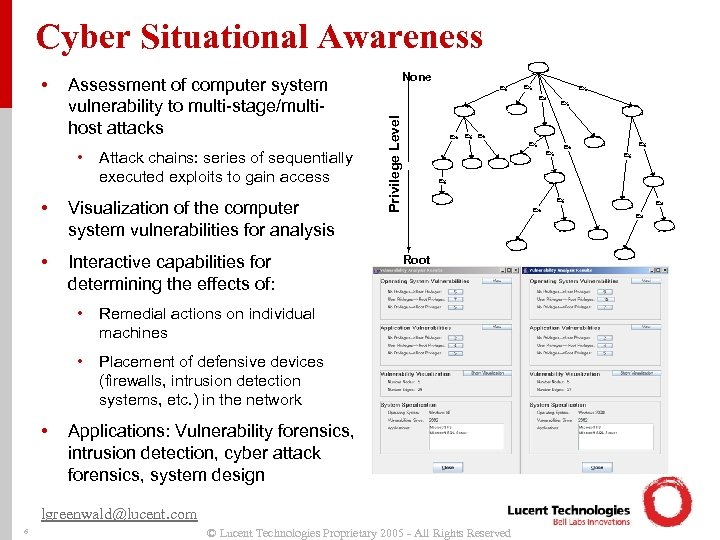 Cyber Situational Awareness Assessment of computer system vulnerability to multi-stage/multihost attacks • Attack chains: