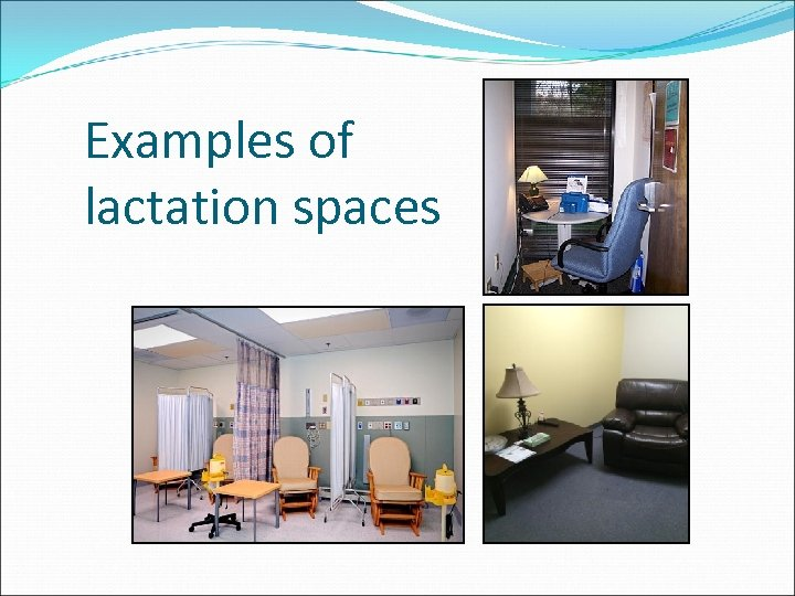Examples of lactation spaces