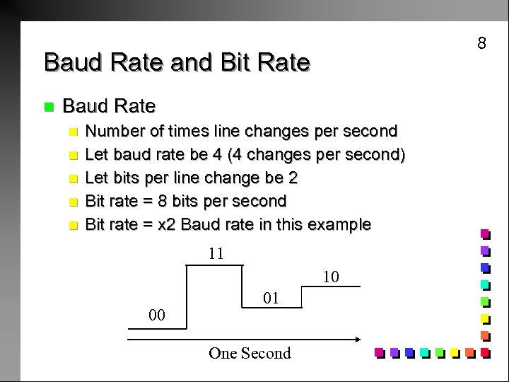 8 Baud Rate and Bit Rate n Baud Rate n n n Number of
