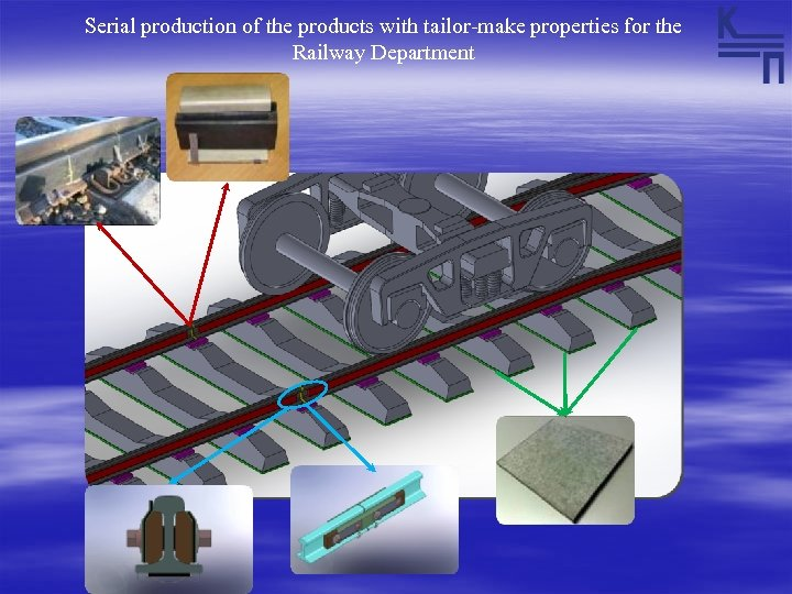 Serial production of the products with tailor-make properties for the Railway Department