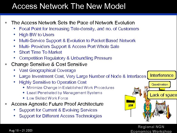 Access Network The New Model § The Access Network Sets the Pace of Network
