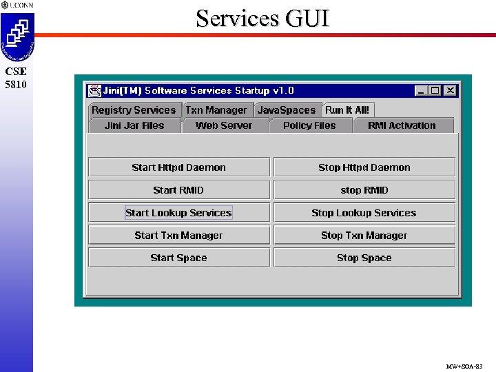 Services GUI CSE 5810 MW+SOA-83