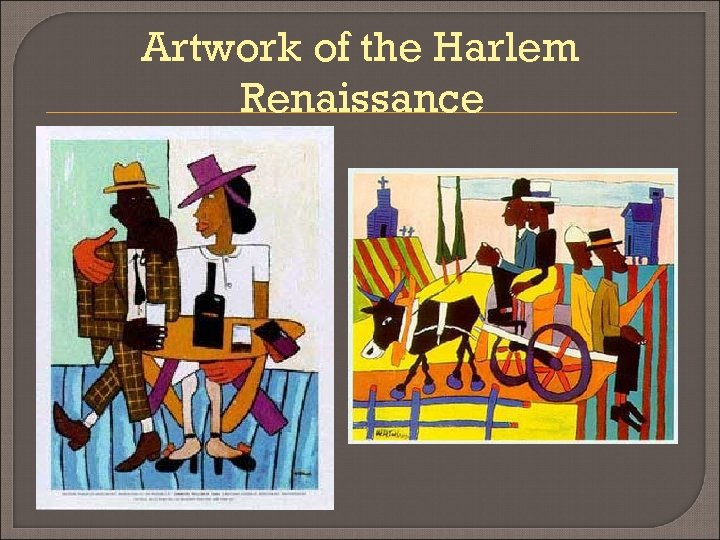 Artwork of the Harlem Renaissance