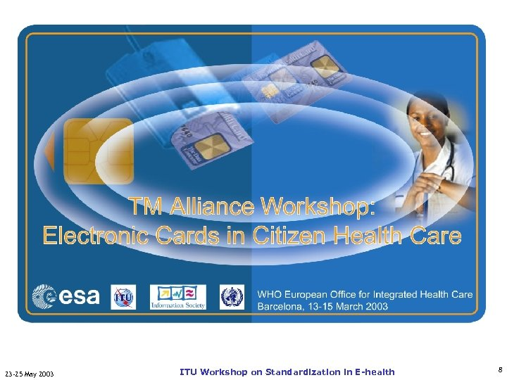 TM-Alliance Workshop: Electronic ITU-T Cards in Citizen Health Care 23 -25 May 2003 ITU
