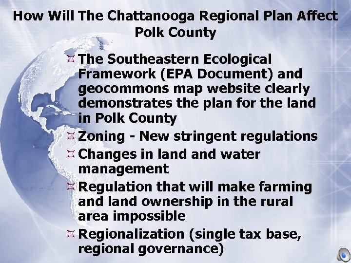 How Will The Chattanooga Regional Plan Affect Polk County The Southeastern Ecological Framework (EPA