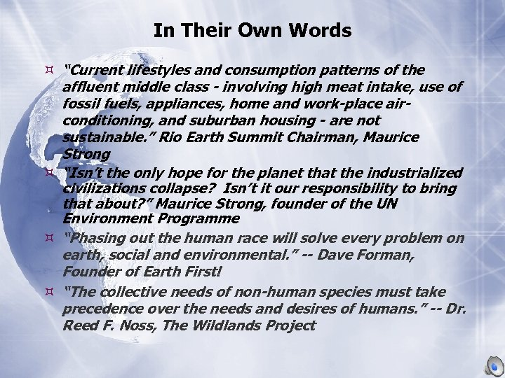 """In Their Own Words """"Current lifestyles and consumption patterns of the affluent middle class"""