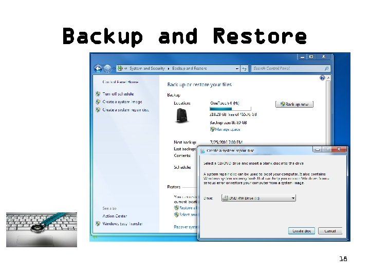 Backup and Restore 18