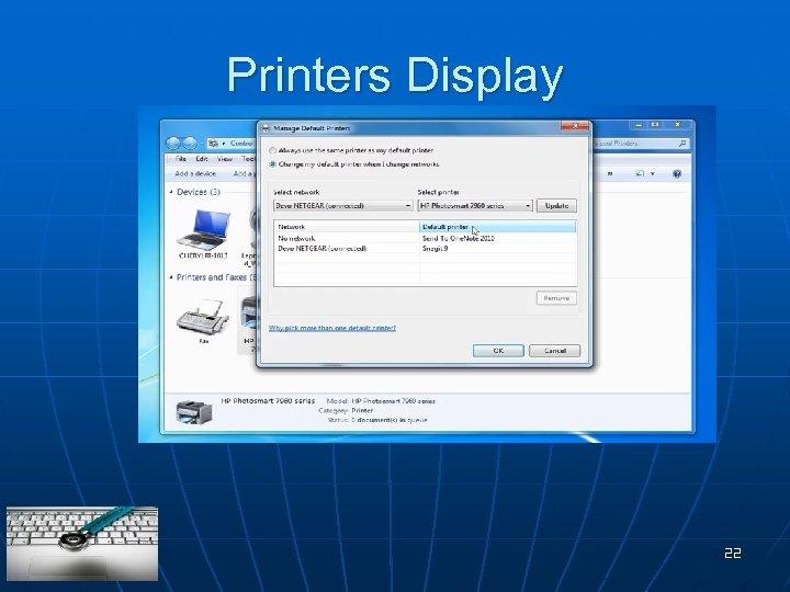 Printers Display 22