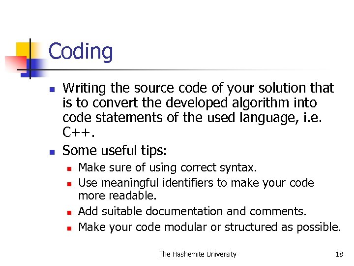 Coding n n Writing the source code of your solution that is to convert