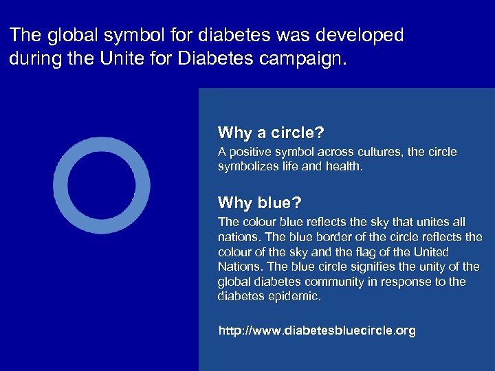 The global symbol for diabetes was developed during the Unite for Diabetes campaign. Why