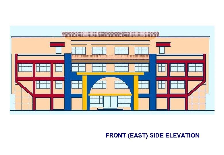 FRONT (EAST) SIDE ELEVATION