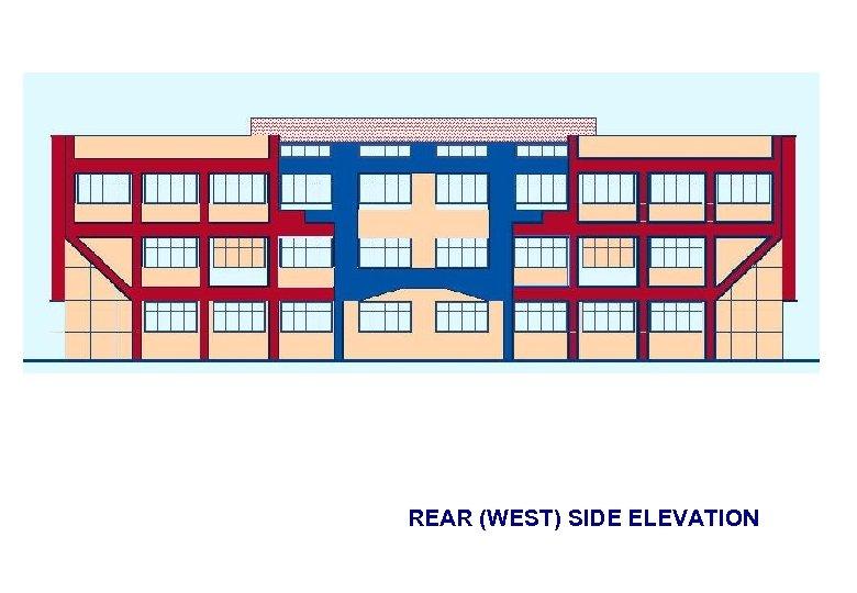 REAR (WEST) SIDE ELEVATION