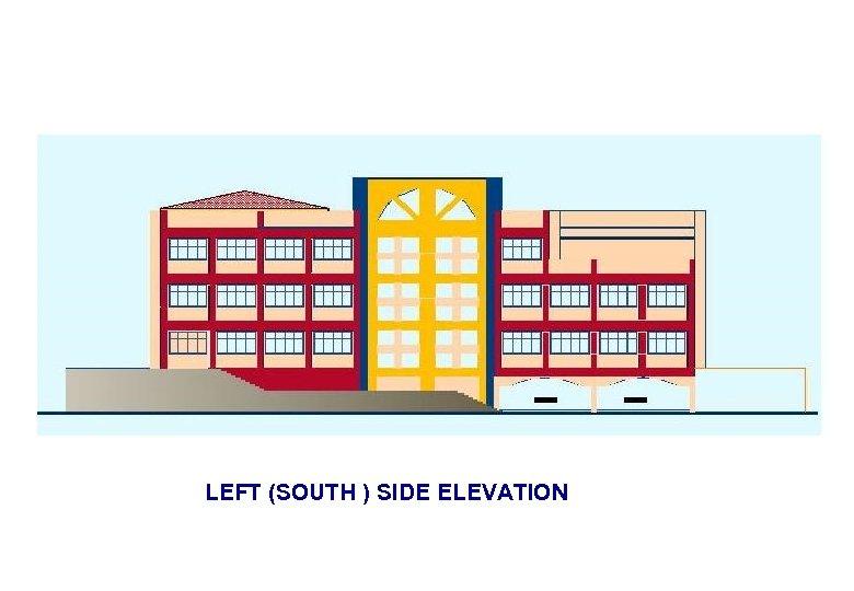LEFT (SOUTH ) SIDE ELEVATION