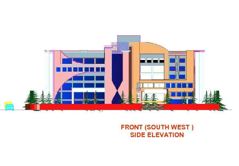 FRONT (SOUTH WEST ) SIDE ELEVATION