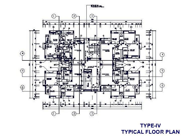 TYPE-IV TYPICAL FLOOR PLAN
