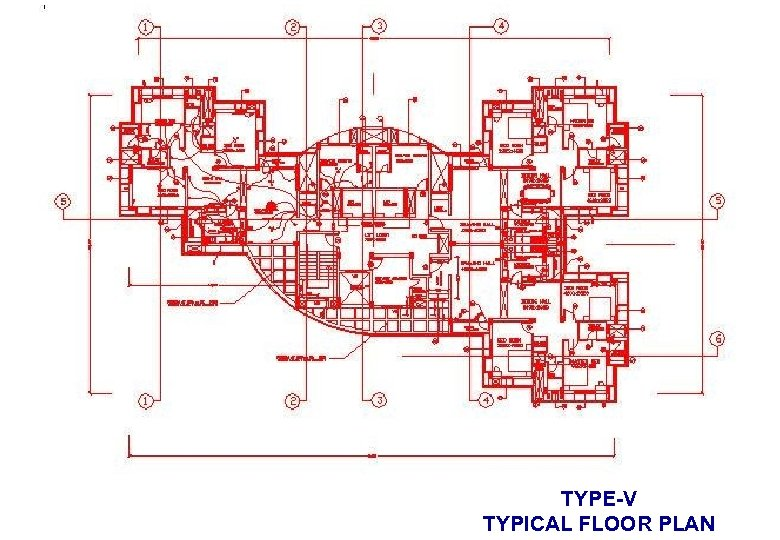 TYPE-V TYPICAL FLOOR PLAN