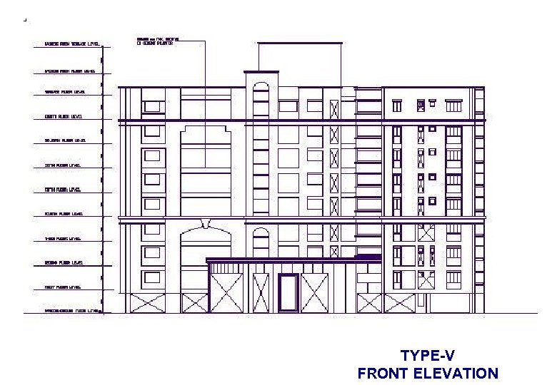 TYPE-V FRONT ELEVATION