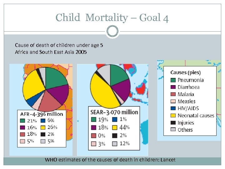 Child Mortality – Goal 4 Cause of death of children under age 5 Africa