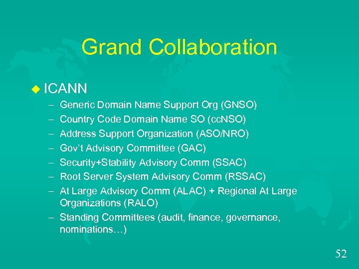 Grand Collaboration u ICANN – Generic Domain Name Support Org (GNSO) – Country Code