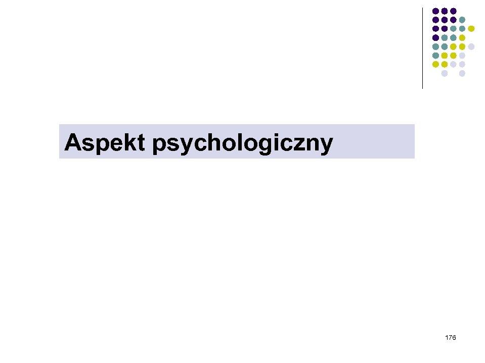Aspekt psychologiczny 176