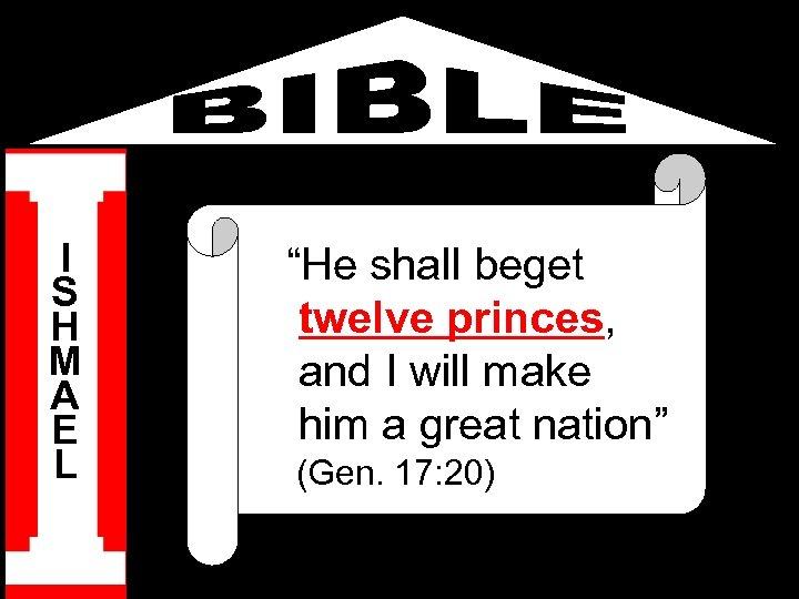 "I S H M A E L ""He shall beget twelve princes, and I"