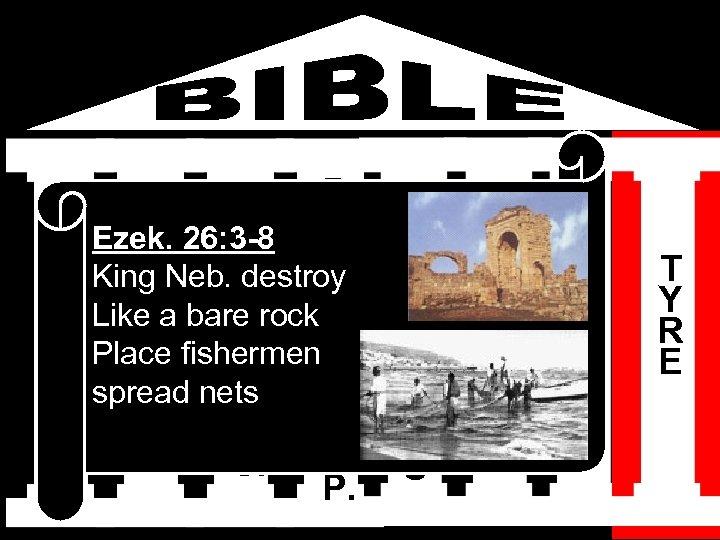 I S H M A E L B D A E Ezek. 26: 3