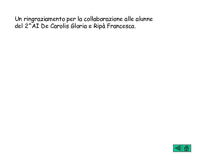 Un ringraziamento per la collaborazione alle alunne del 2^AI De Carolis Gloria e Ripà