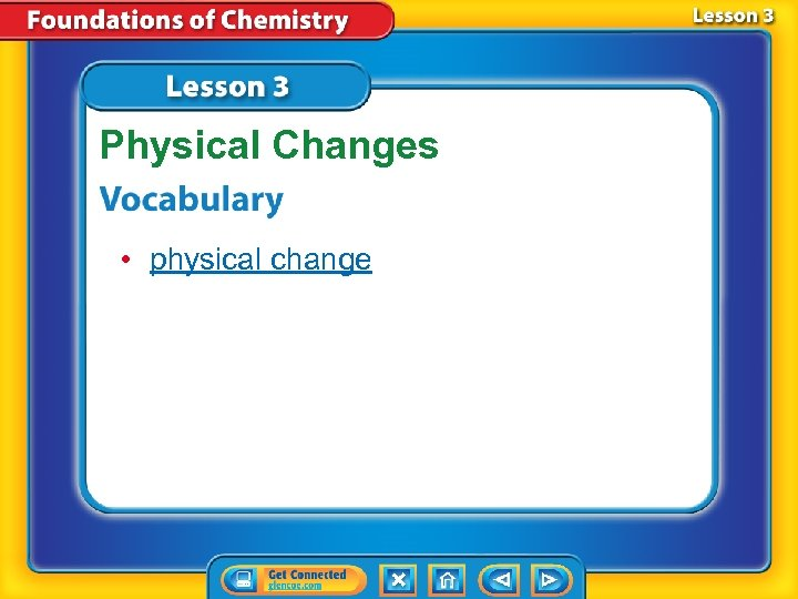 Physical Changes • physical change