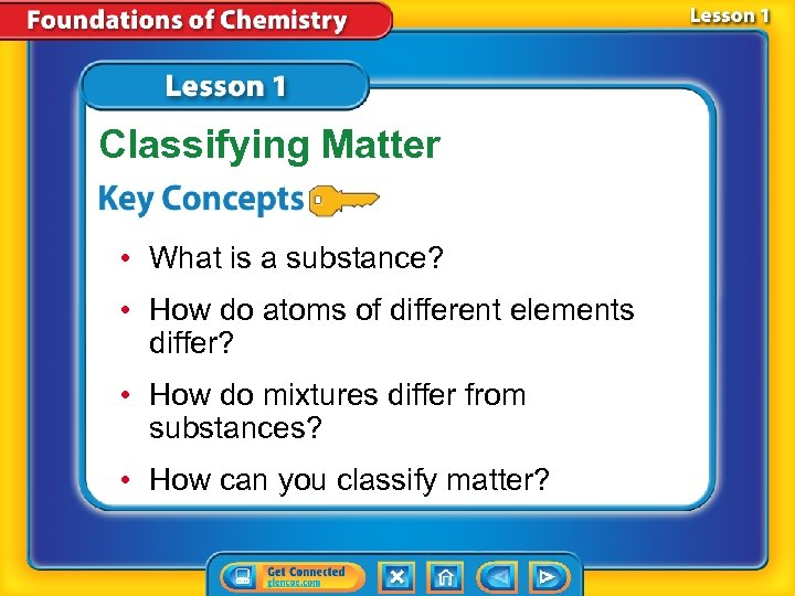 Classifying Matter • What is a substance? • How do atoms of different elements