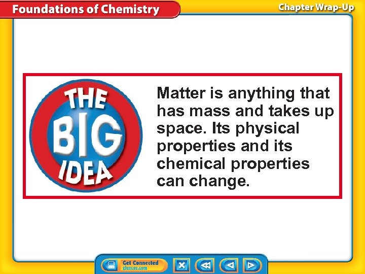 Matter is anything that has mass and takes up space. Its physical properties and
