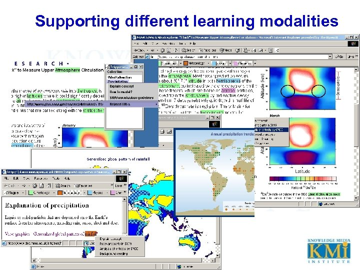Supporting different learning modalities