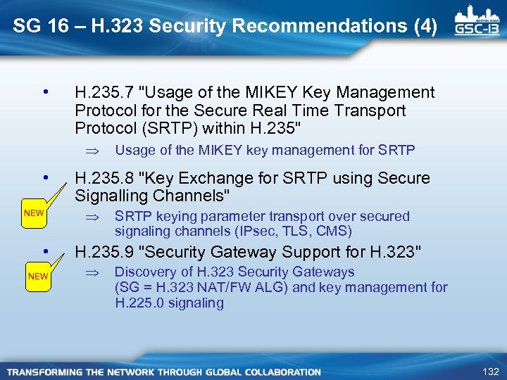 SG 16 – H. 323 Security Recommendations (4) • H. 235. 7