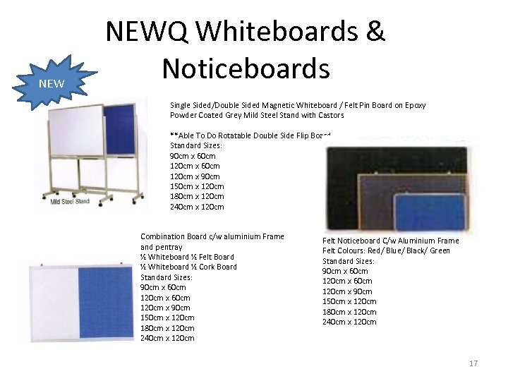 NEW NEWQ Whiteboards & Noticeboards Single Sided/Double Sided Magnetic Whiteboard / Felt Pin Board