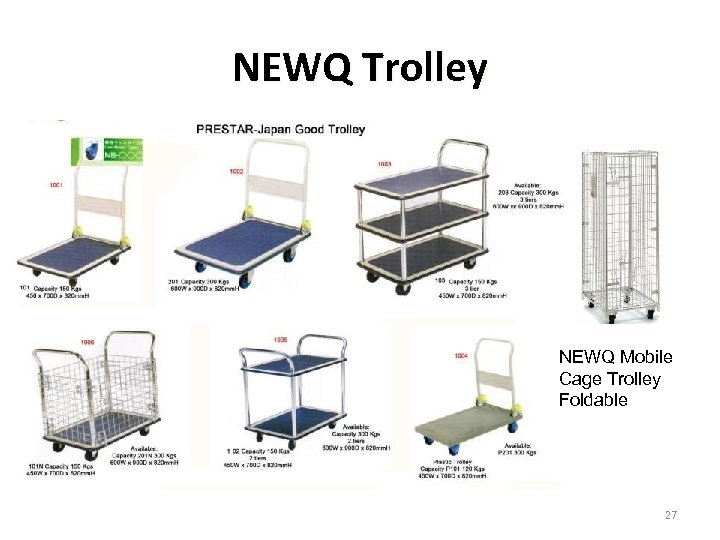 NEWQ Trolley NEWQ Mobile Cage Trolley Foldable 27