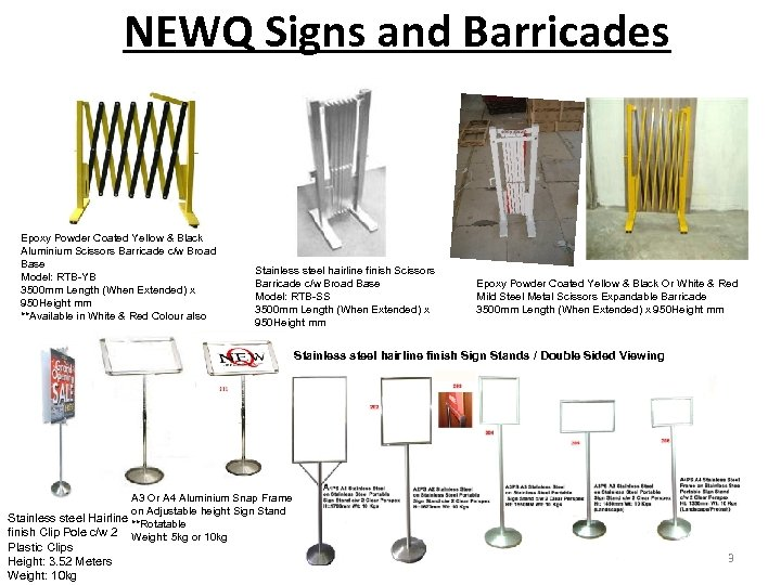 NEWQ Signs and Barricades Epoxy Powder Coated Yellow & Black Aluminium Scissors Barricade c/w