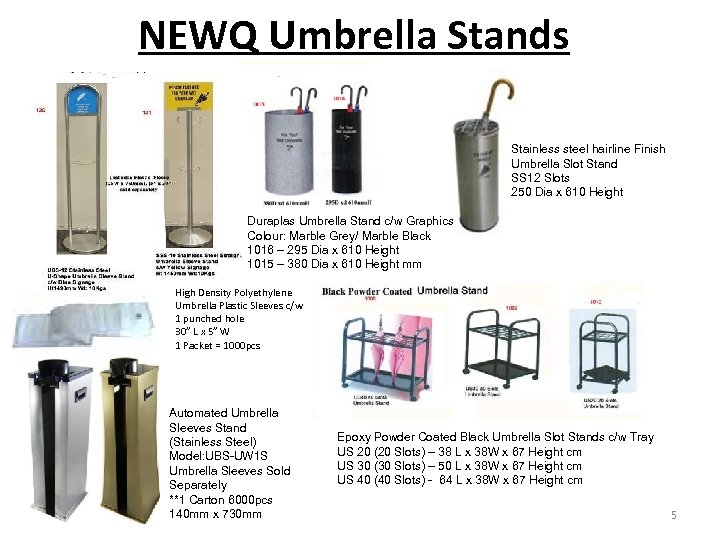 NEWQ Umbrella Stands Stainless steel hairline Finish Umbrella Slot Stand SS 12 Slots 250