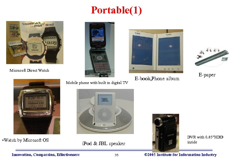 Portable(1) Microsoft Direct Watch Mobile phone with built in digital TV • Watch by