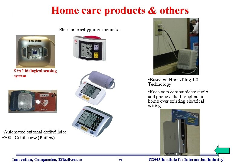 Home care products & others Electronic sphygmomanometer 5 in 1 biological sensing system •