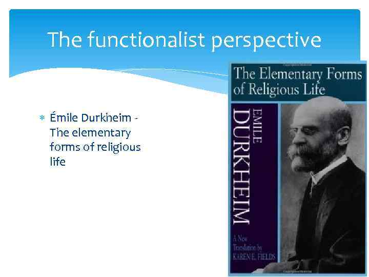 the separation of sacred from profane in the elementary forms of religious belief by emile durkheim Powerpoint slideshow about 'emile durkheim's elementary forms of religious life' - cirila a religion is a unified system of beliefs and practices relative to sacred things    which unite into one single moral community called a church all those who.