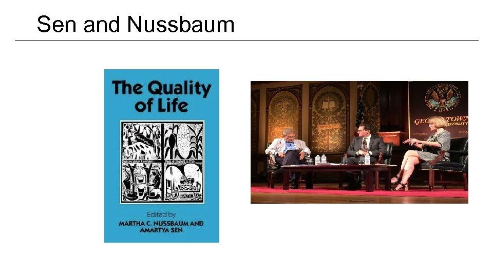 Sen and Nussbaum