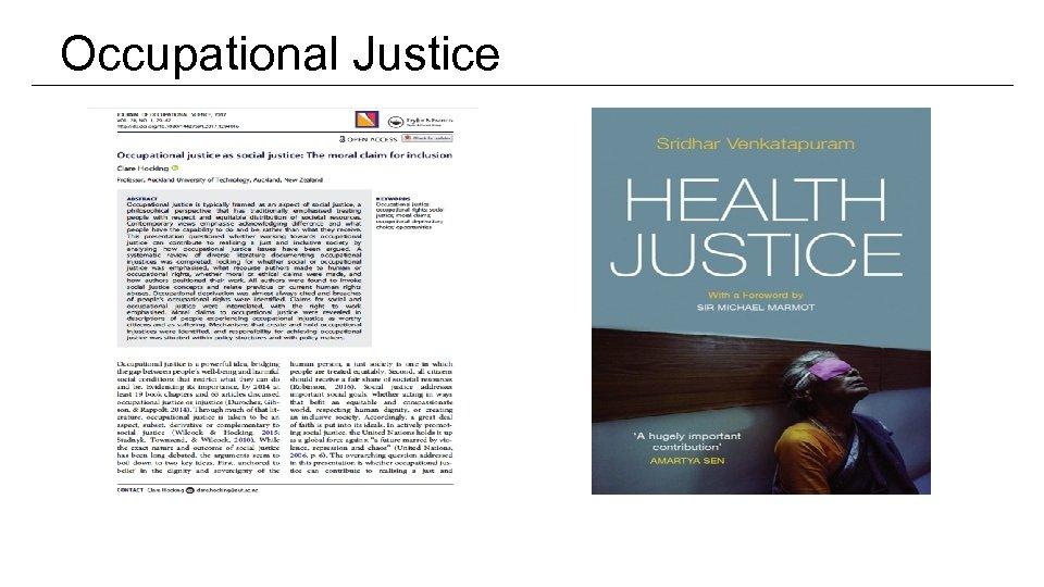 Occupational Justice
