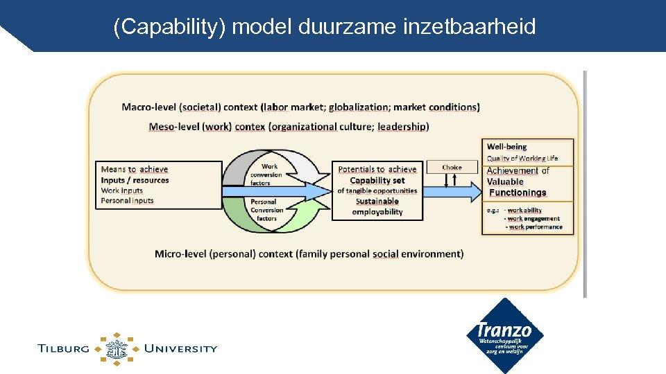 (Capability) model duurzame inzetbaarheid