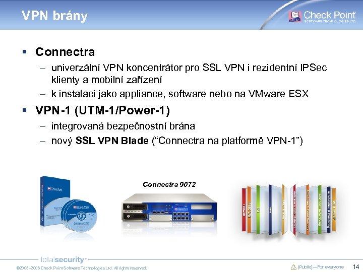 VPN brány § Connectra – univerzální VPN koncentrátor pro SSL VPN i rezidentní IPSec