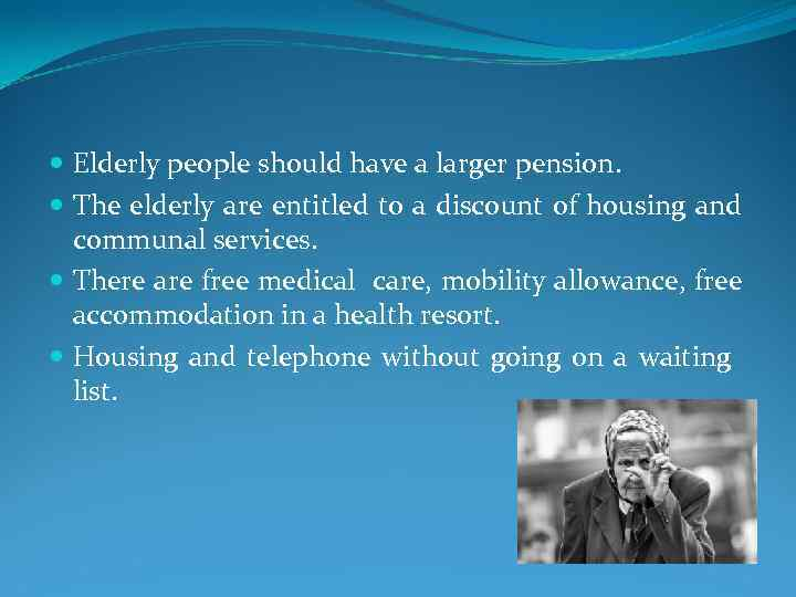 the elderly are a burden to society essay The guardian - back to home make  how can we build a better society for older people live discussion  in singapore the elderly have smart cards that they can.