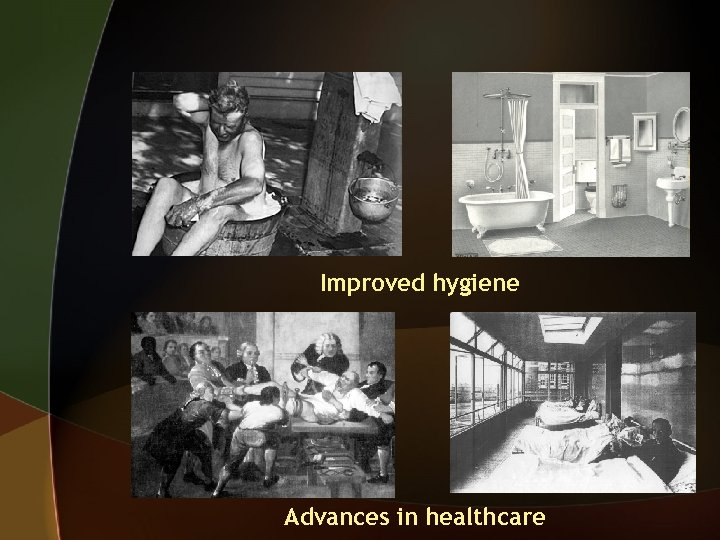 Improved hygiene Advances in healthcare