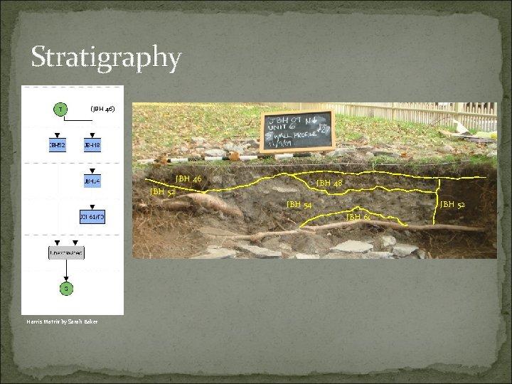 Stratigraphy (JBH 46) JBH 46 JBH 48 JBH 52 JBH 54 JBH 52 JBH