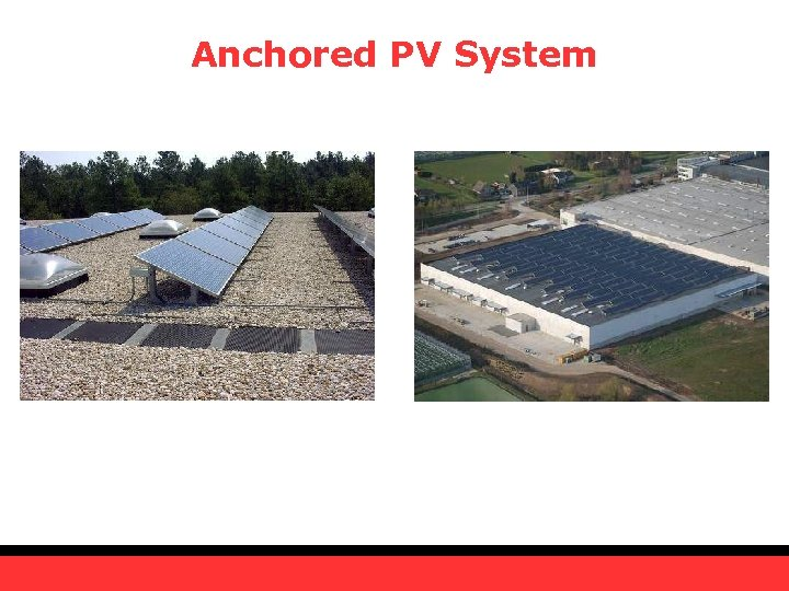 Anchored PV System