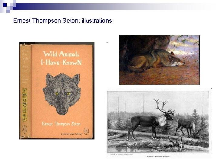 Ernest Thompson Seton: illustrations